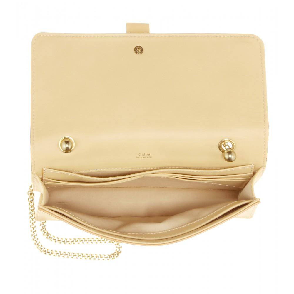 Chlo¨¦ Aurore Leather Wallet in Beige (biscotti beige) | Lyst