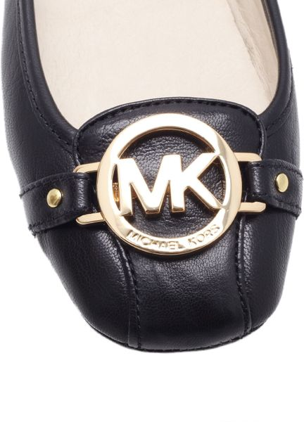 michael kors fulton moc ballerina shoes in black lyst. Black Bedroom Furniture Sets. Home Design Ideas