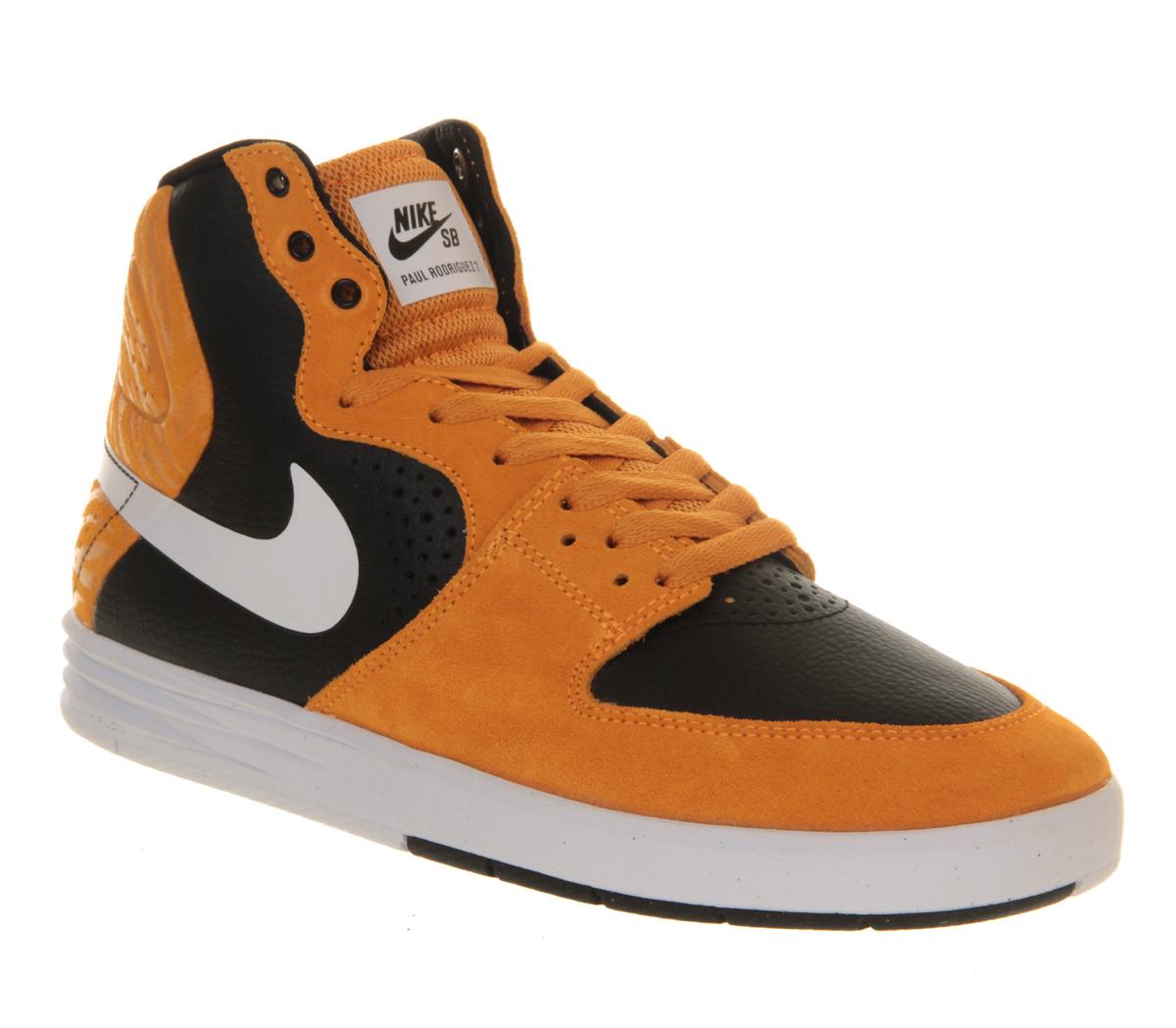 2e7a8562658 Nike Paul Rodriguez 7 High in Orange for Men (black)