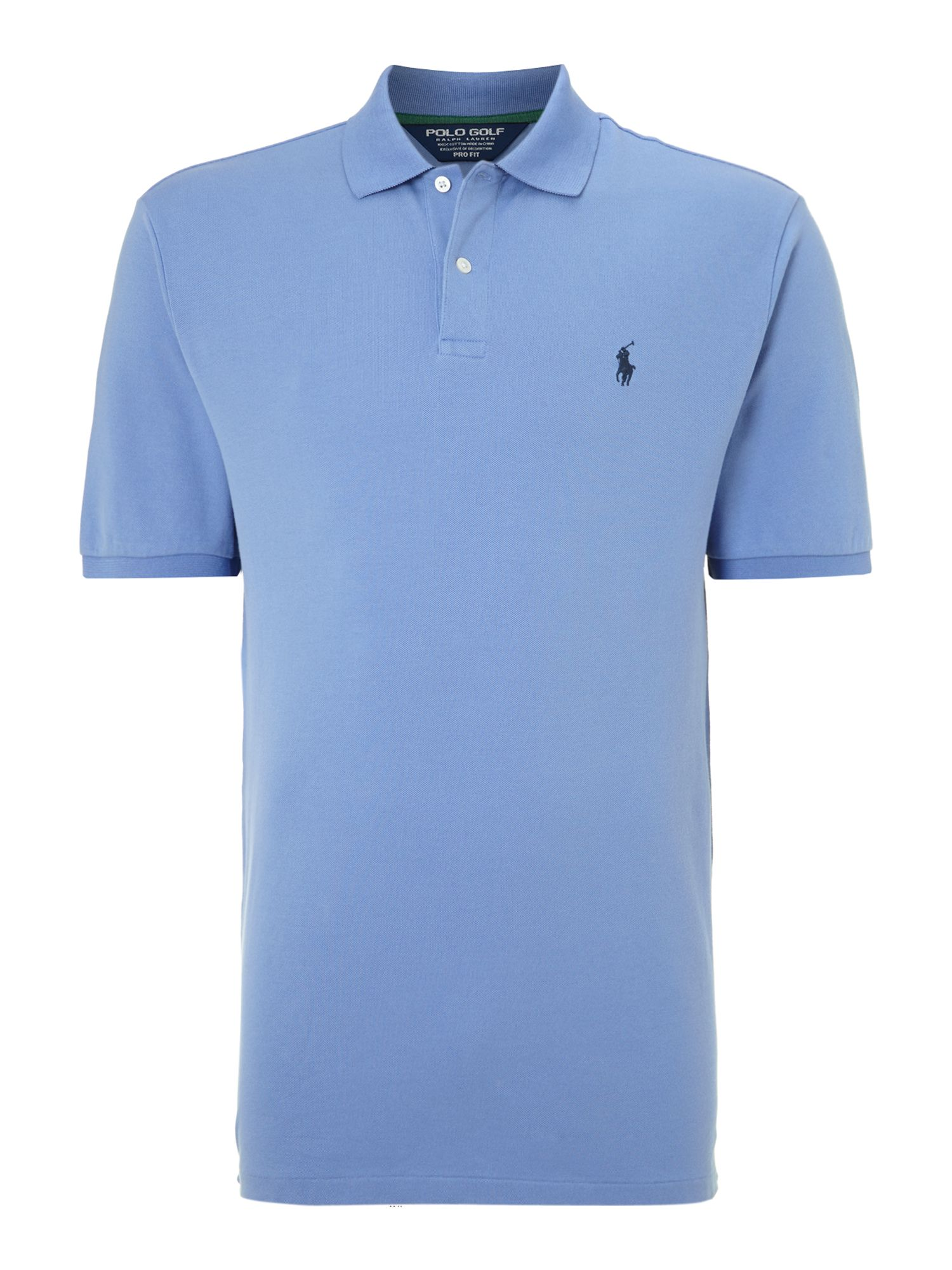 ralph lauren golf contrast collar polo shirt in blue for. Black Bedroom Furniture Sets. Home Design Ideas
