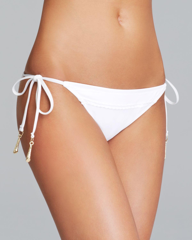 2711599fec8 Trina Turk Madagascar Tie Side Bikini Bottom in White - Lyst