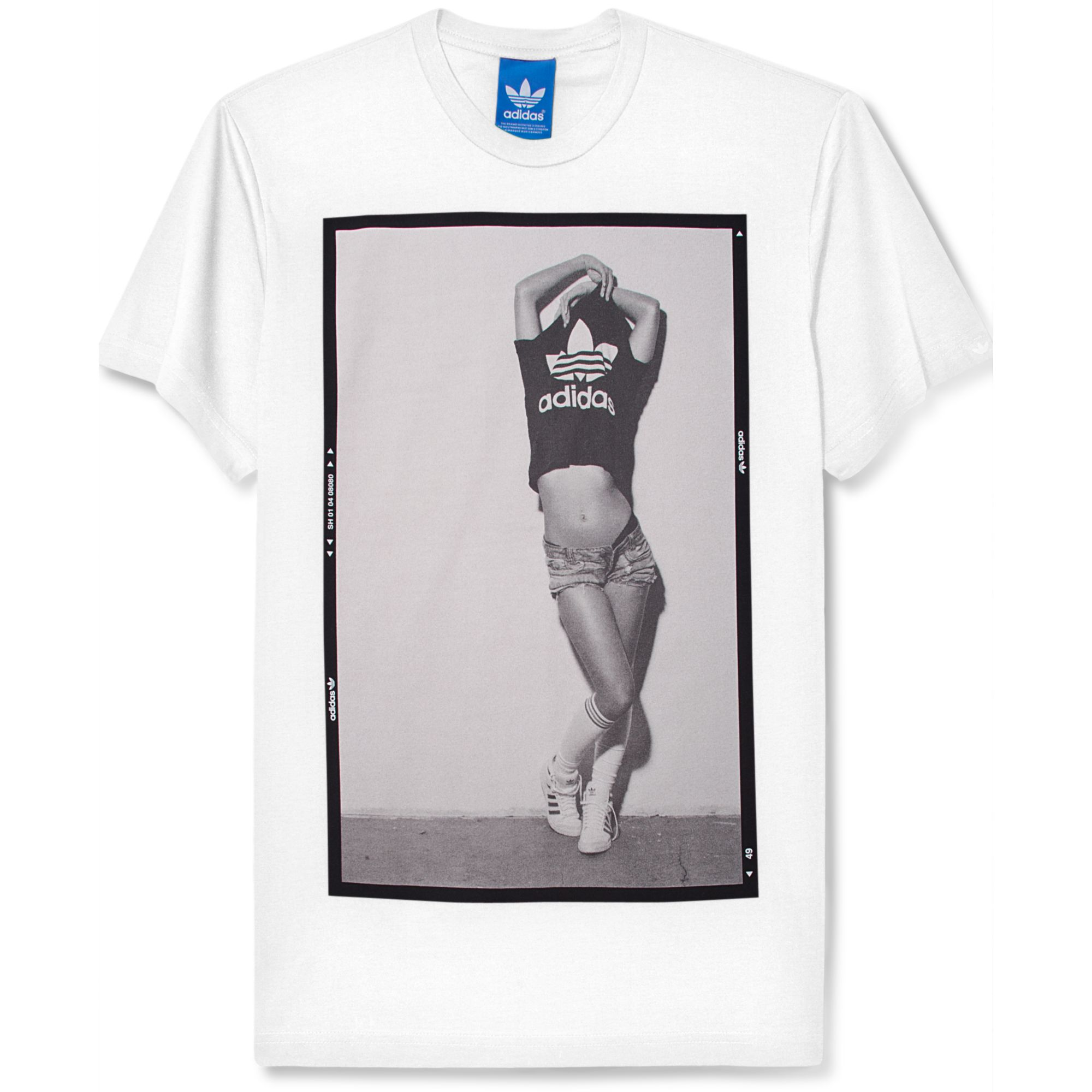 Lyst adidas Shortsleeve Photo Negative Graphic Tshirt in