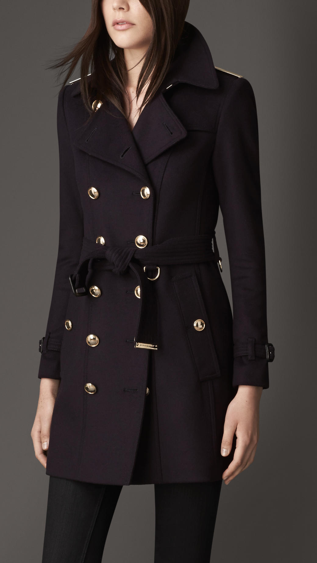 Lyst Burberry Midlength Slim Fit Wool Cashmere Trench