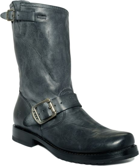 frye boots mid calf boots flat boots in black lyst