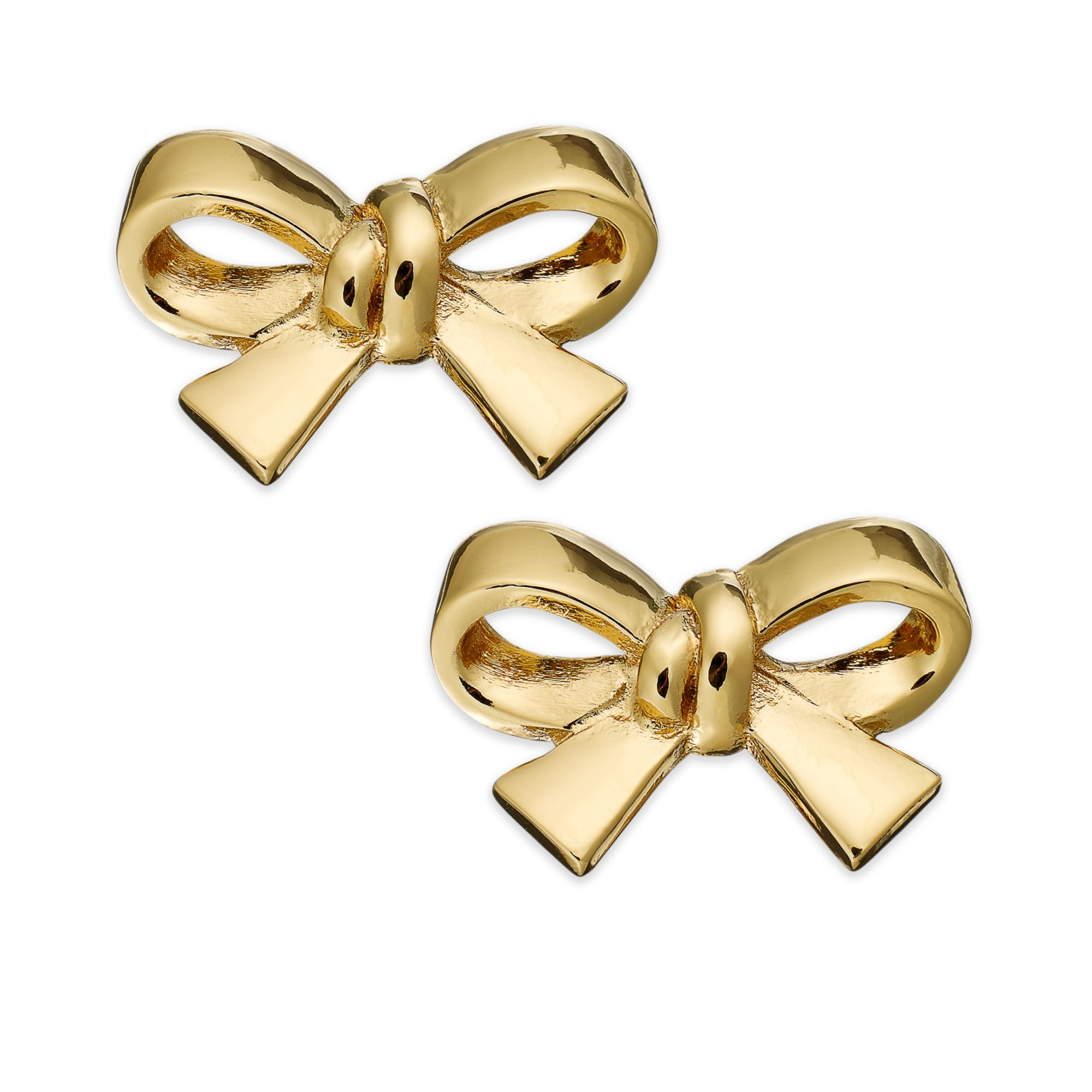 kate spade clip on earrings kate spade gold tone bow clip on earrings in gold no 9001