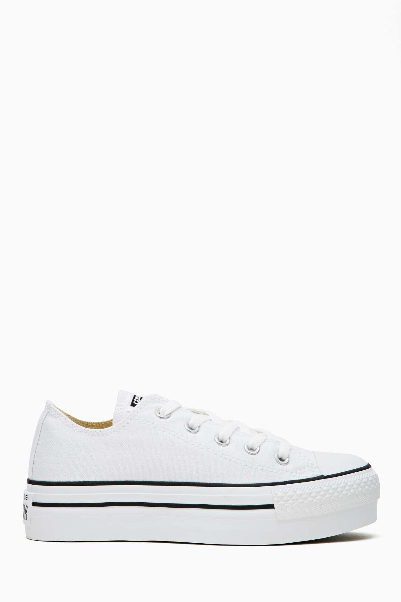 Nasty Gal Converse All Star Platform Sneaker In White Lyst