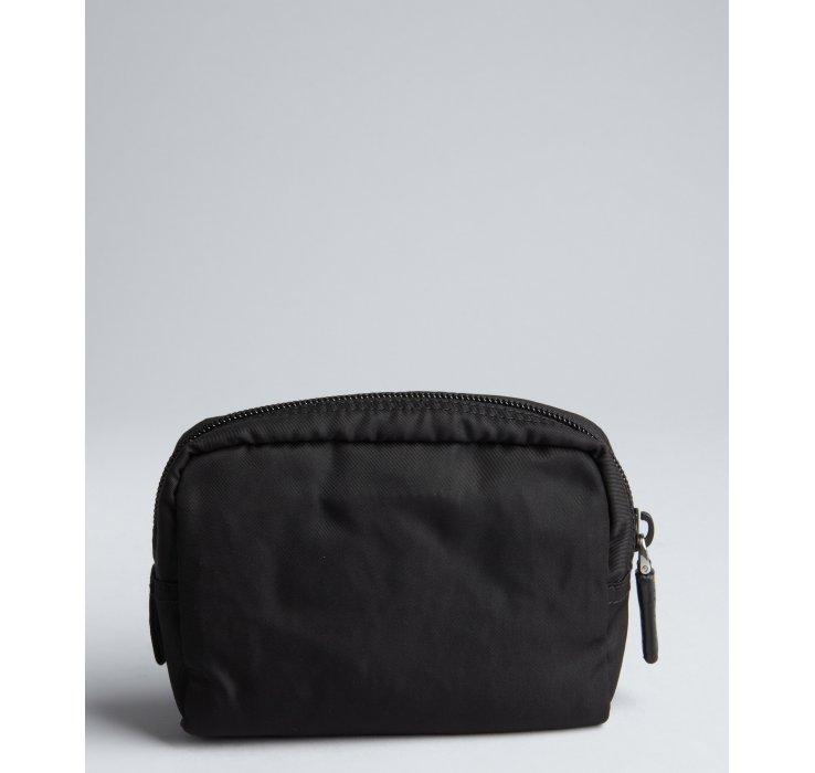 8eae0f9478 black prada tote bag - Prada Black Logo Nylon Small Cosmetics Case in Black