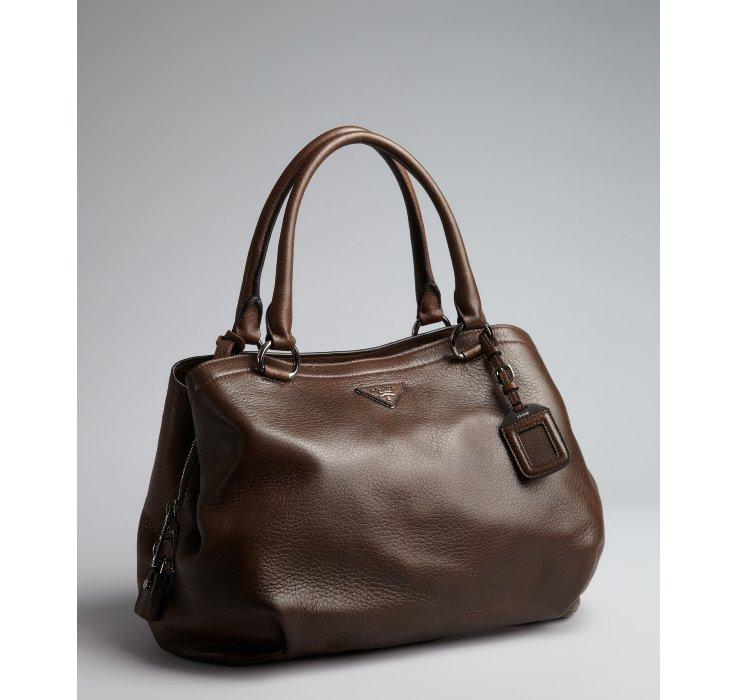 prada vela leather satchel