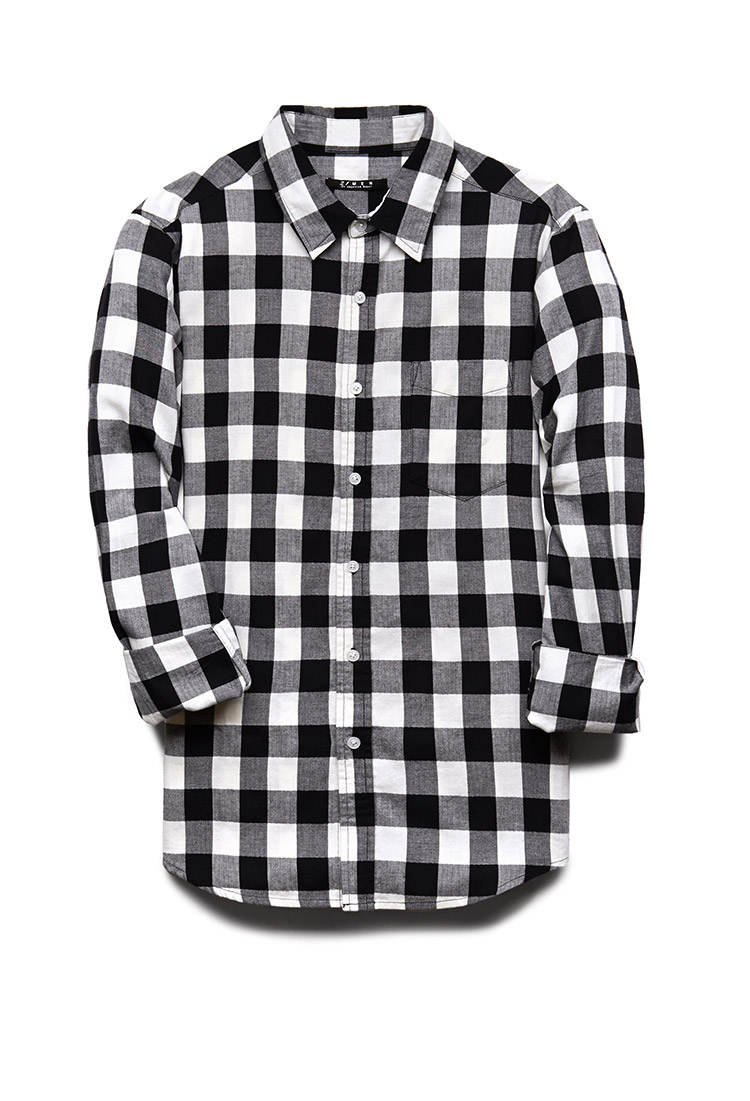 5f29960d Black And White Checkered Flannel Shirt Womens – DACC
