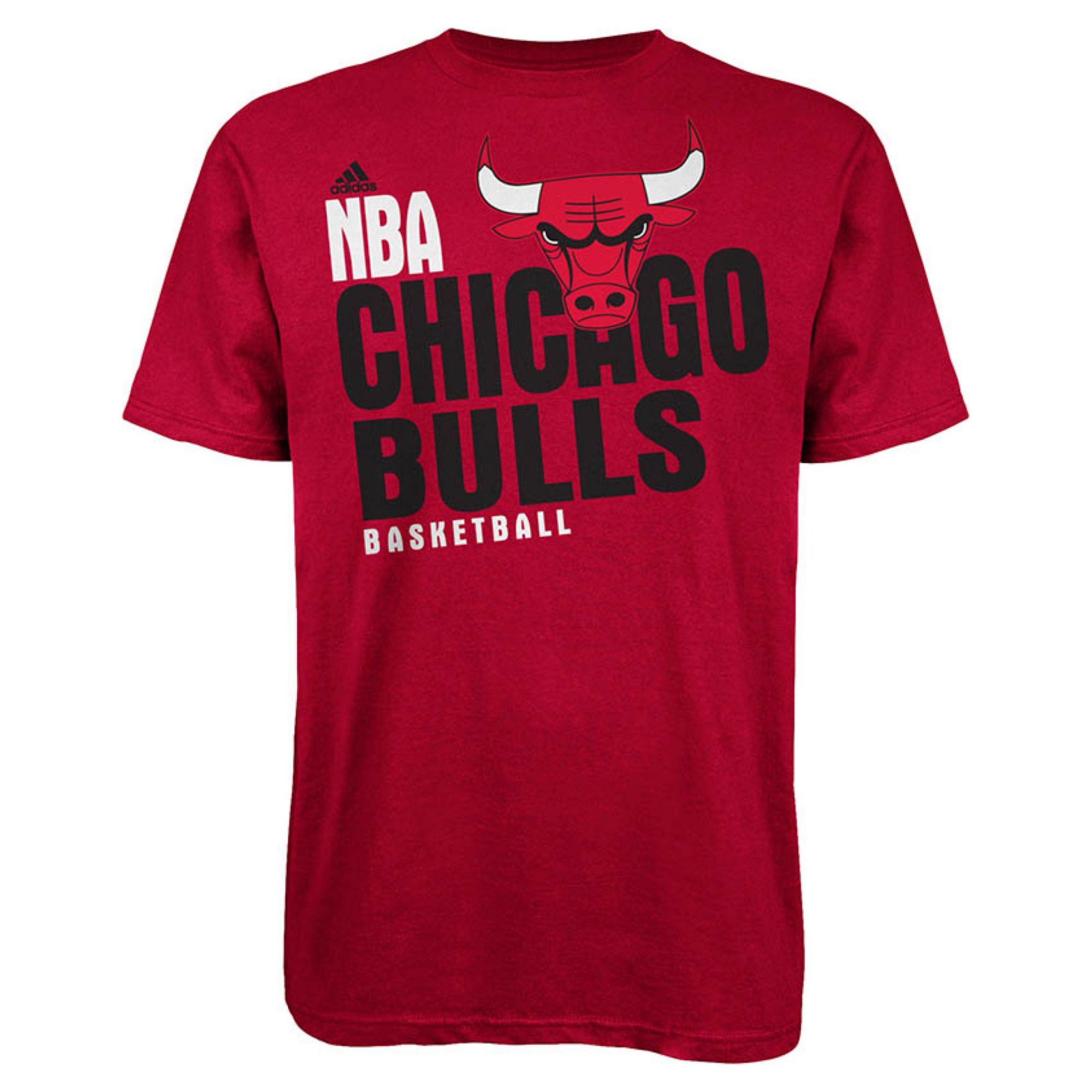 adidas men 39 s chicago bulls stacked extreme t shirt in red. Black Bedroom Furniture Sets. Home Design Ideas