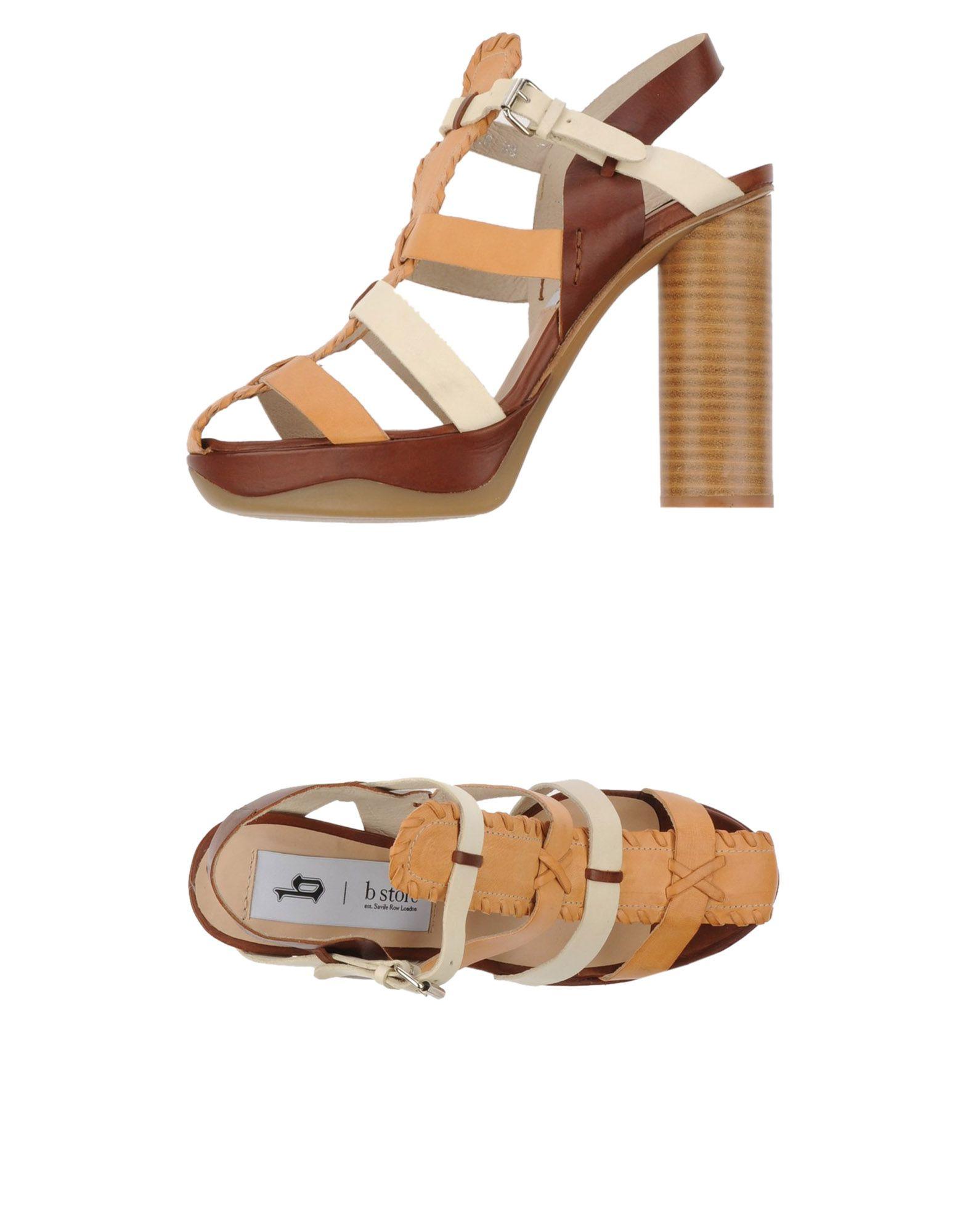 b store platform sandals in brown lyst