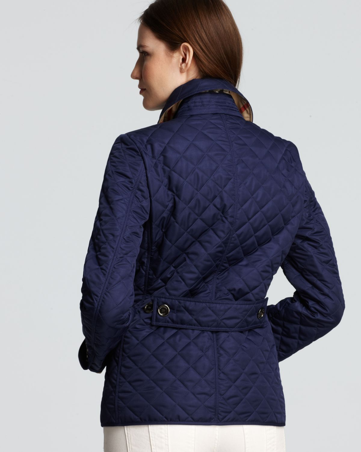 Burberry Brit Copford Quilted Jacket in Blue | Lyst : burberry quilted jacket with hood - Adamdwight.com