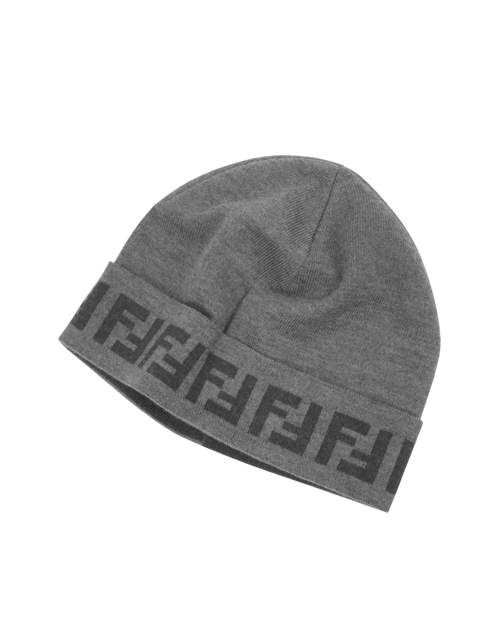 Fendi Zucca Logo Wool Hat in Gray for Men - Lyst 0eebd11b1329