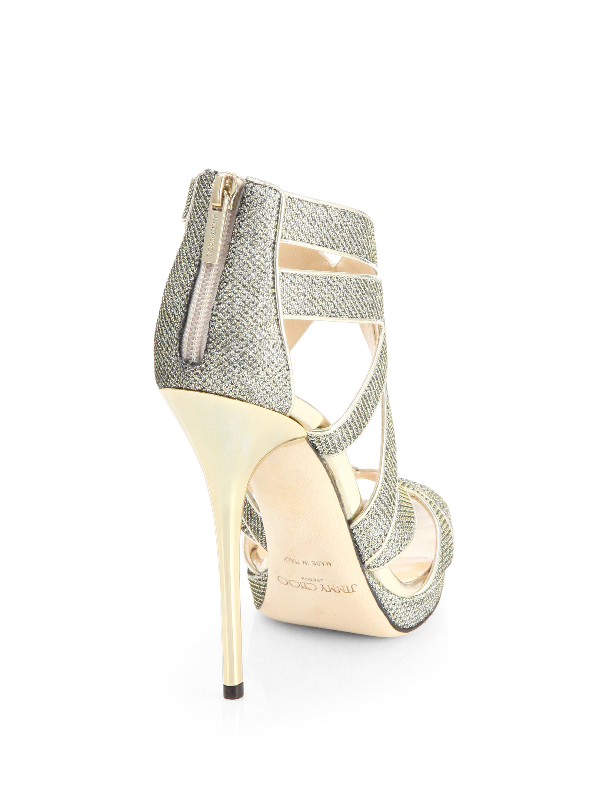 Jimmy Choo Lame Cage Sandals shopping online outlet sale MjVXDso2