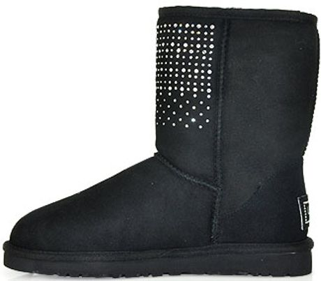 7b01cbced Ugg Black Short Bling