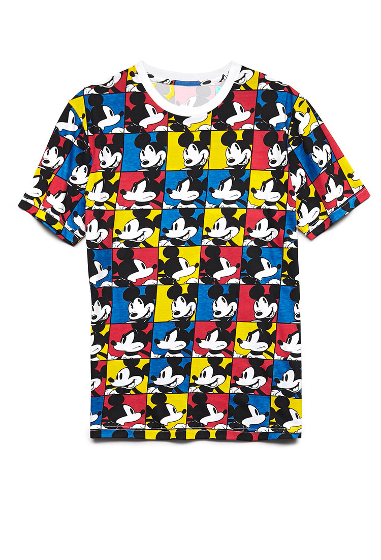 Forever 21 Retro Mickey Mouse Tee in Blue for Men
