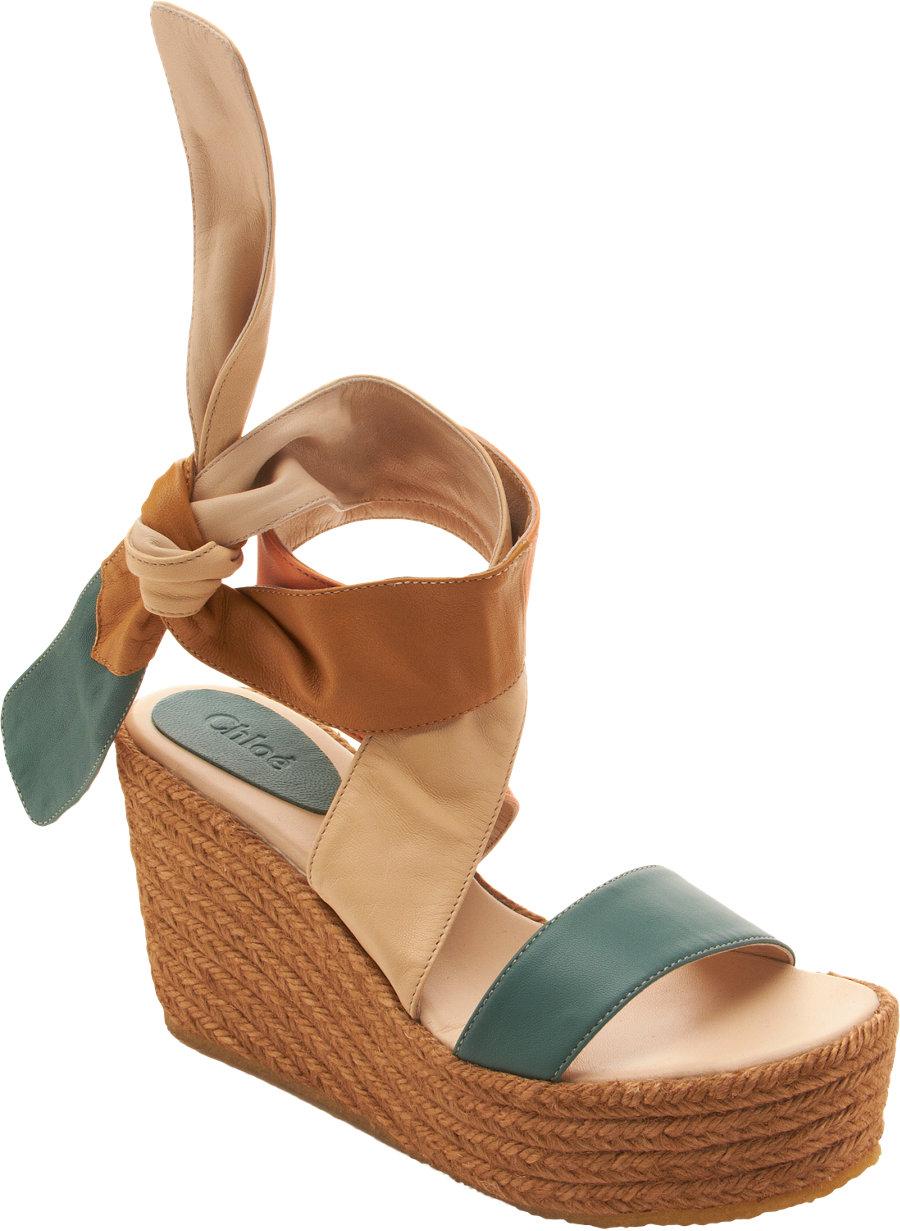 Chlo 233 Platform Espadrille Sandal In Blue Lyst