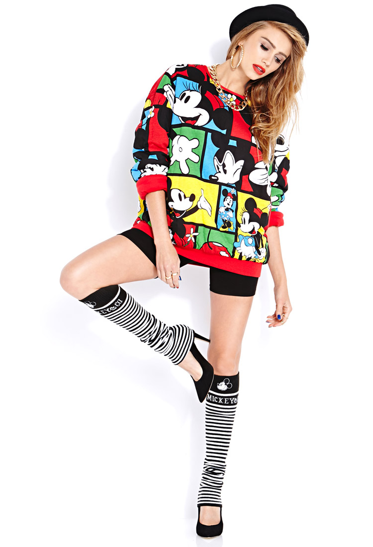 21 Mickey Mouse Nail Art Designs Ideas: Forever 21 Standout Mickey Mouse Leg Warmers In Black