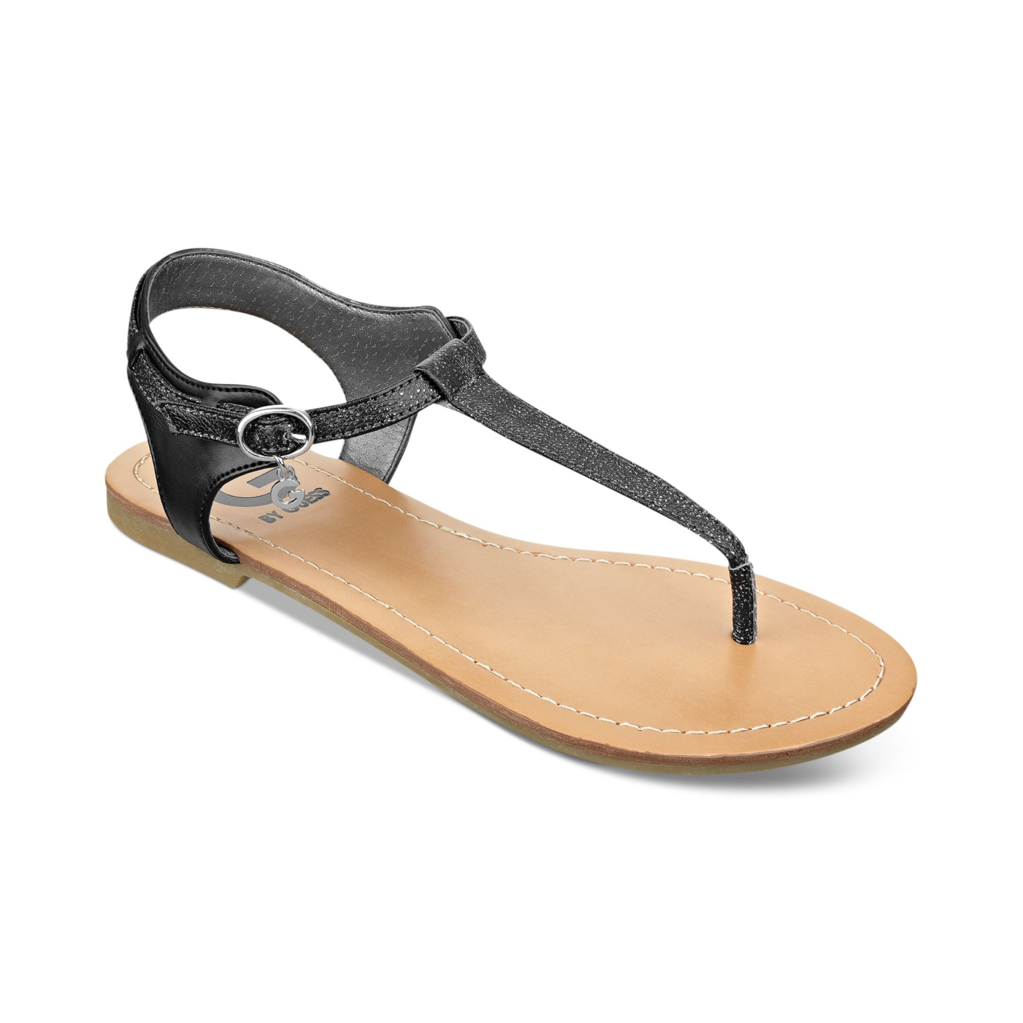 Lastest  Women  DKNY  DKNY Black 23421418 Womens Flat Toe Post Sandal