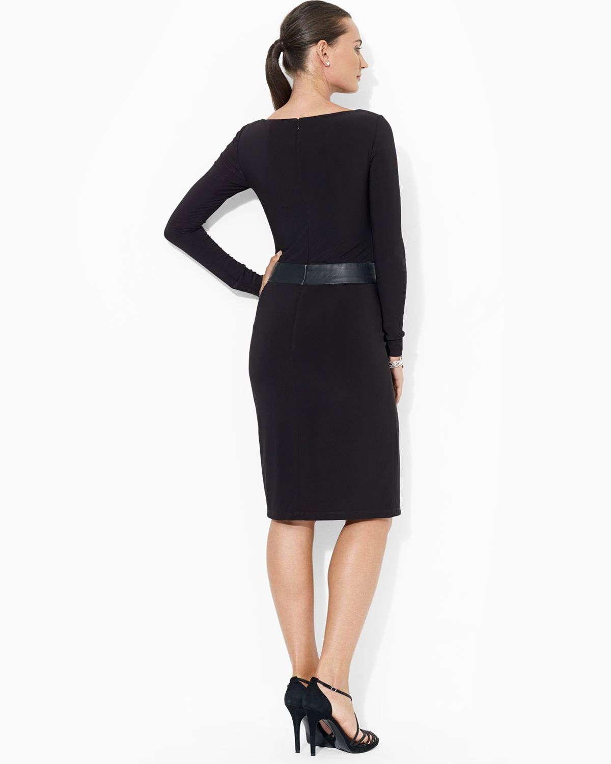 Lauren Ralph Lauren Väskor : Lyst ralph lauren dress faux leather matte jersey in black
