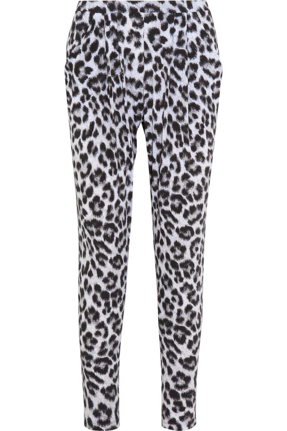 Lyst Michael Michael Kors Tunisia Cheetahprint Jersey Pants