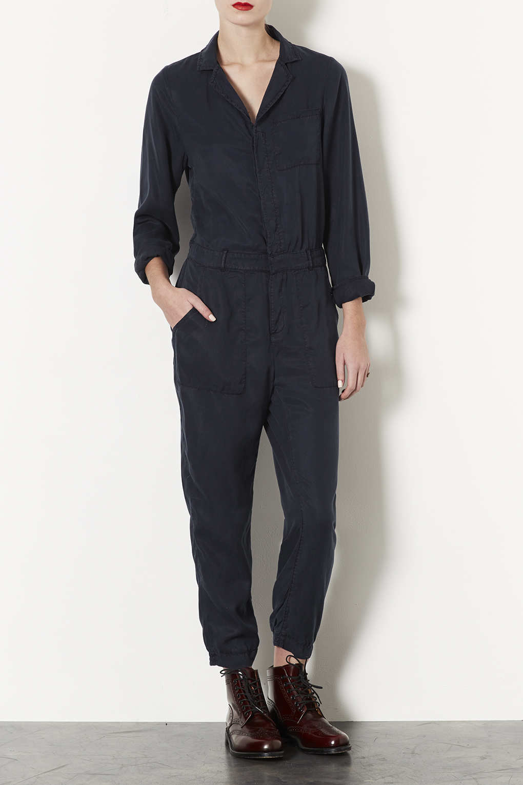 Topshop Casual Boiler Suit In Blue Lyst