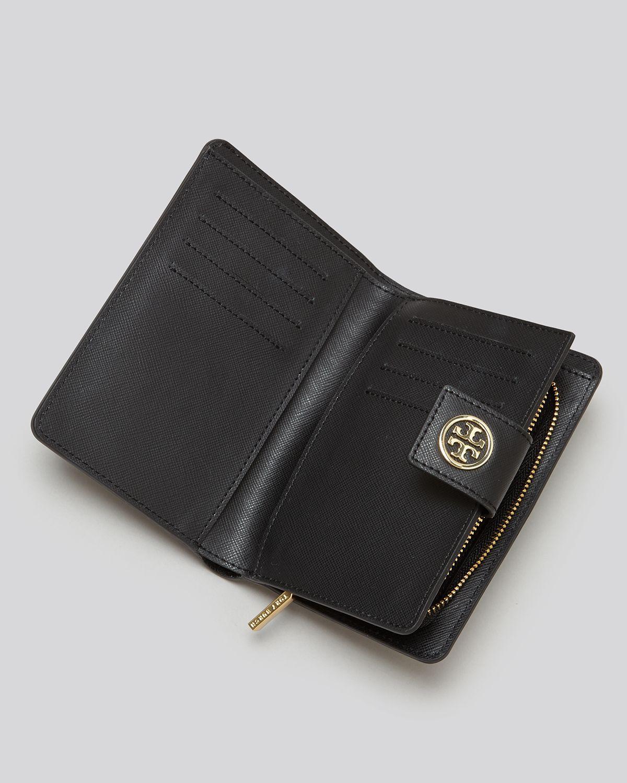 Tory Burch Wallet Robinson French Bi Fold In Black Lyst