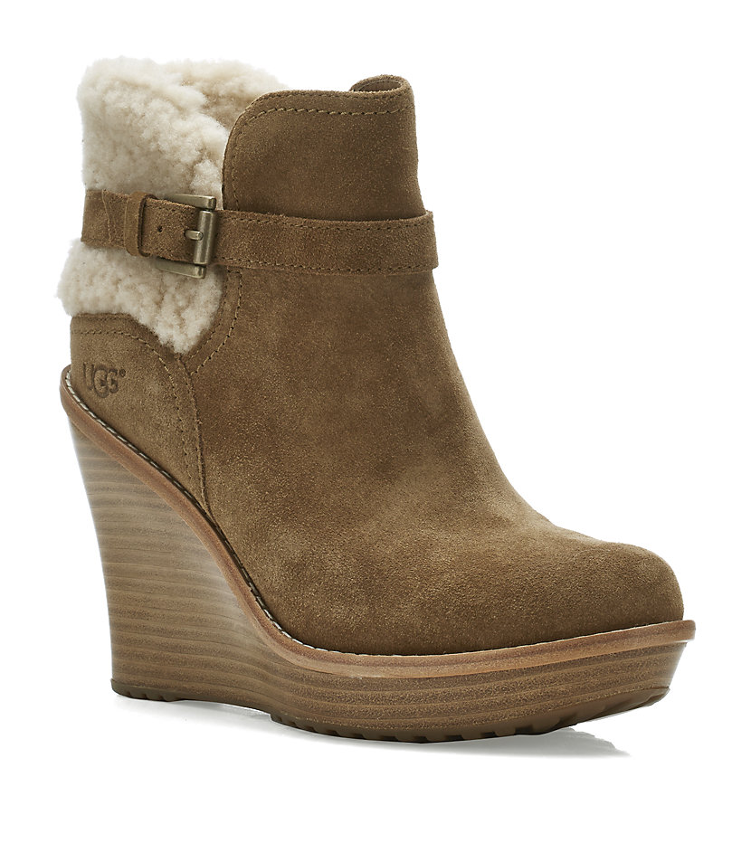 158940d32a7c UGG Anais Wedge Boot in Natural - Lyst