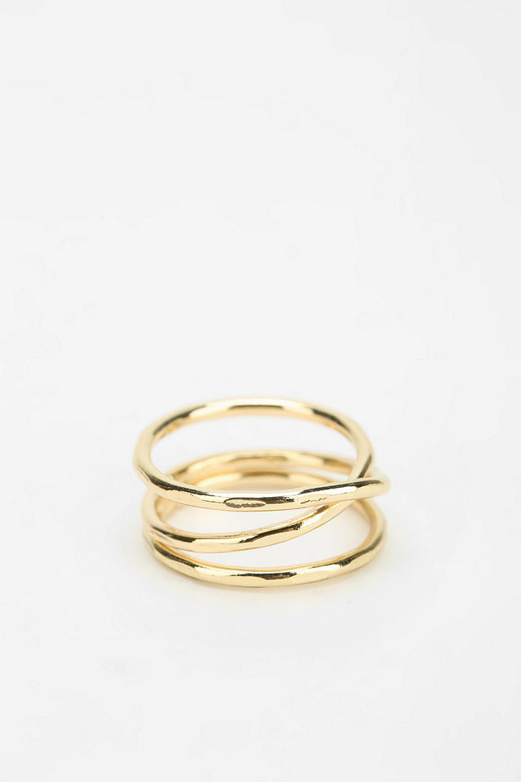 Urban Outfitters Crossover Ring In Metallic Lyst