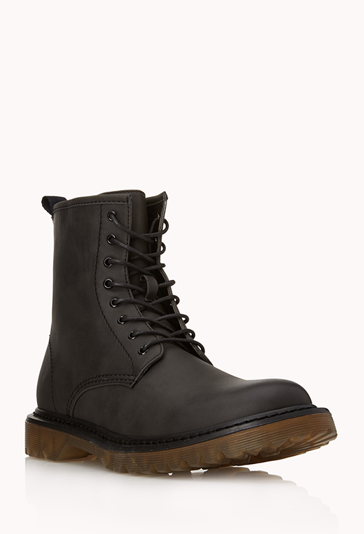 Forever 21 Retro Combat Boots in Black for Men | Lyst