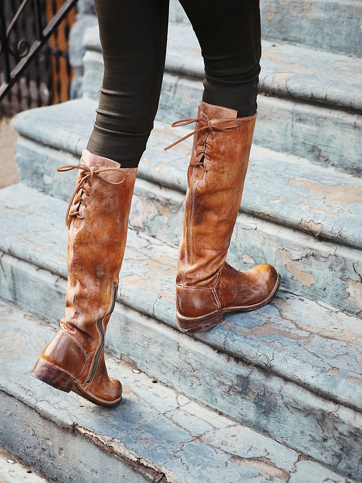 bed stu manchester leather tall boots in brown | lyst