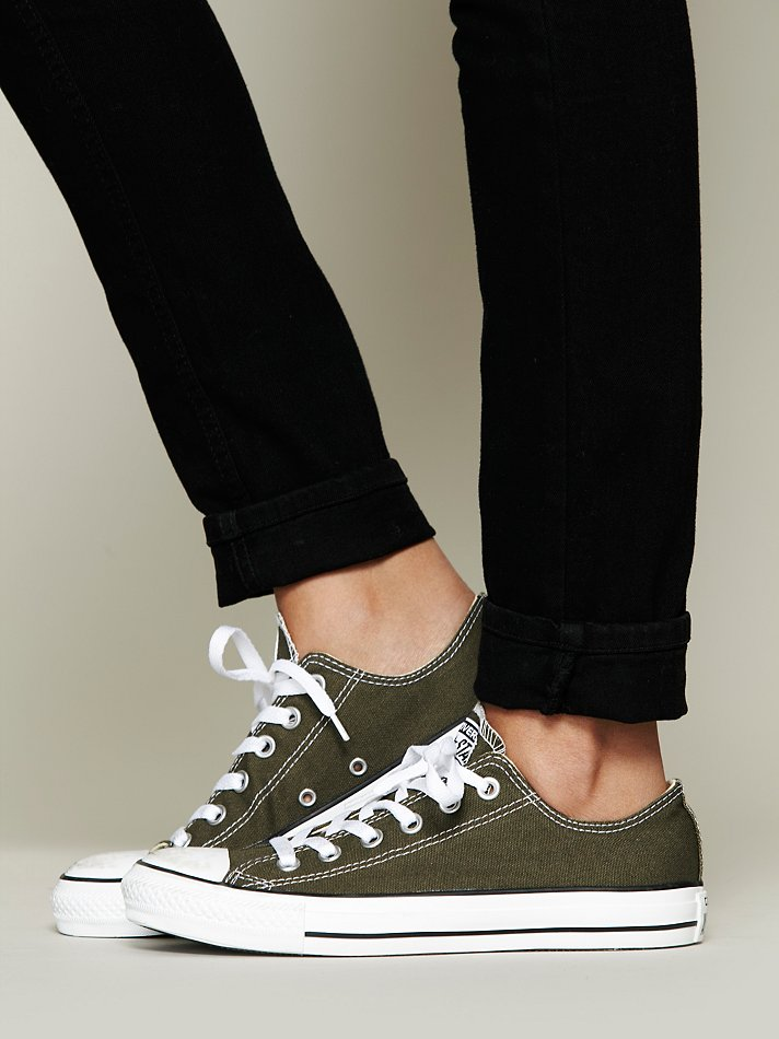7d3b6bc2aa77 ... best price lyst free people converse womens charlie converse in green  f7995 e36a5