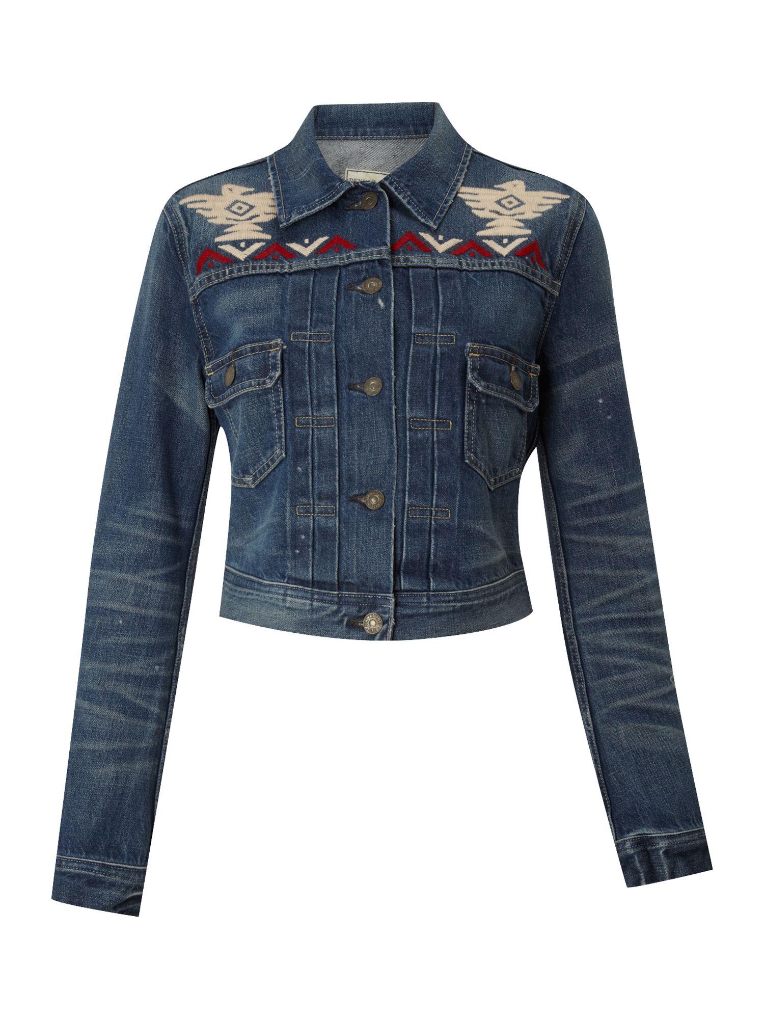 denim supply ralph lauren denim trucker jacket in blue. Black Bedroom Furniture Sets. Home Design Ideas