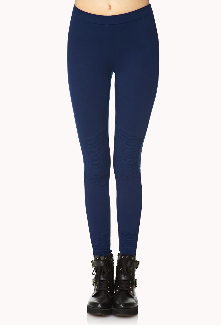 Navy Blue Leggings For Girls