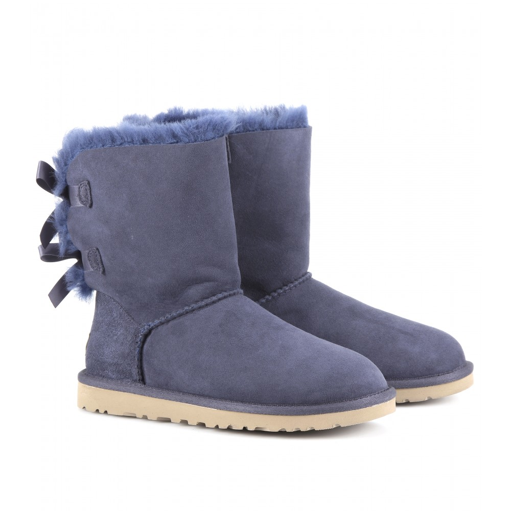 ugg bailey bow boots in blue navy lyst. Black Bedroom Furniture Sets. Home Design Ideas