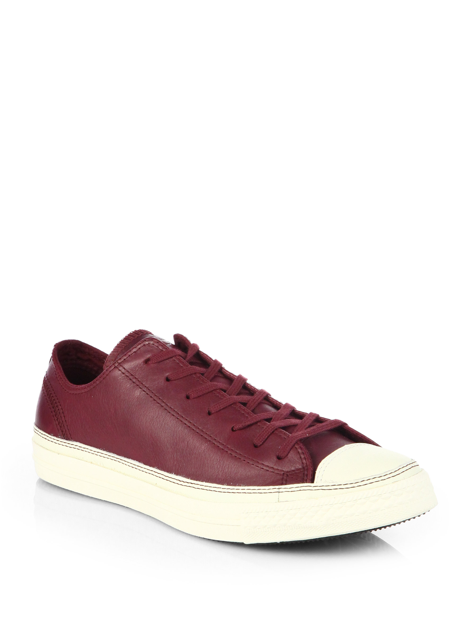 Lyst Converse Craft Leather Sneakers In Red For Men