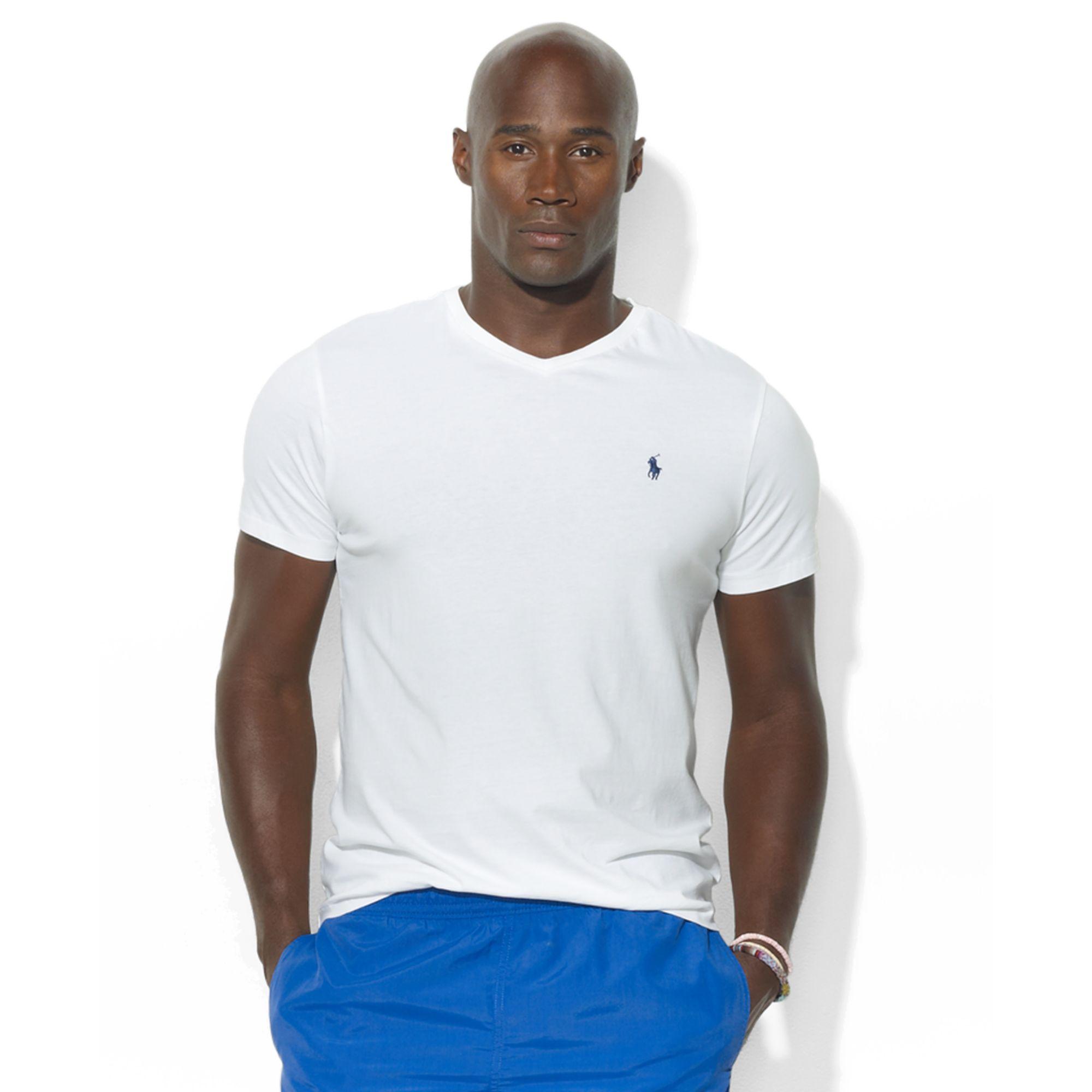 Polo ralph lauren big and tall t shirt medium fit v neck for Big and tall polo t shirts