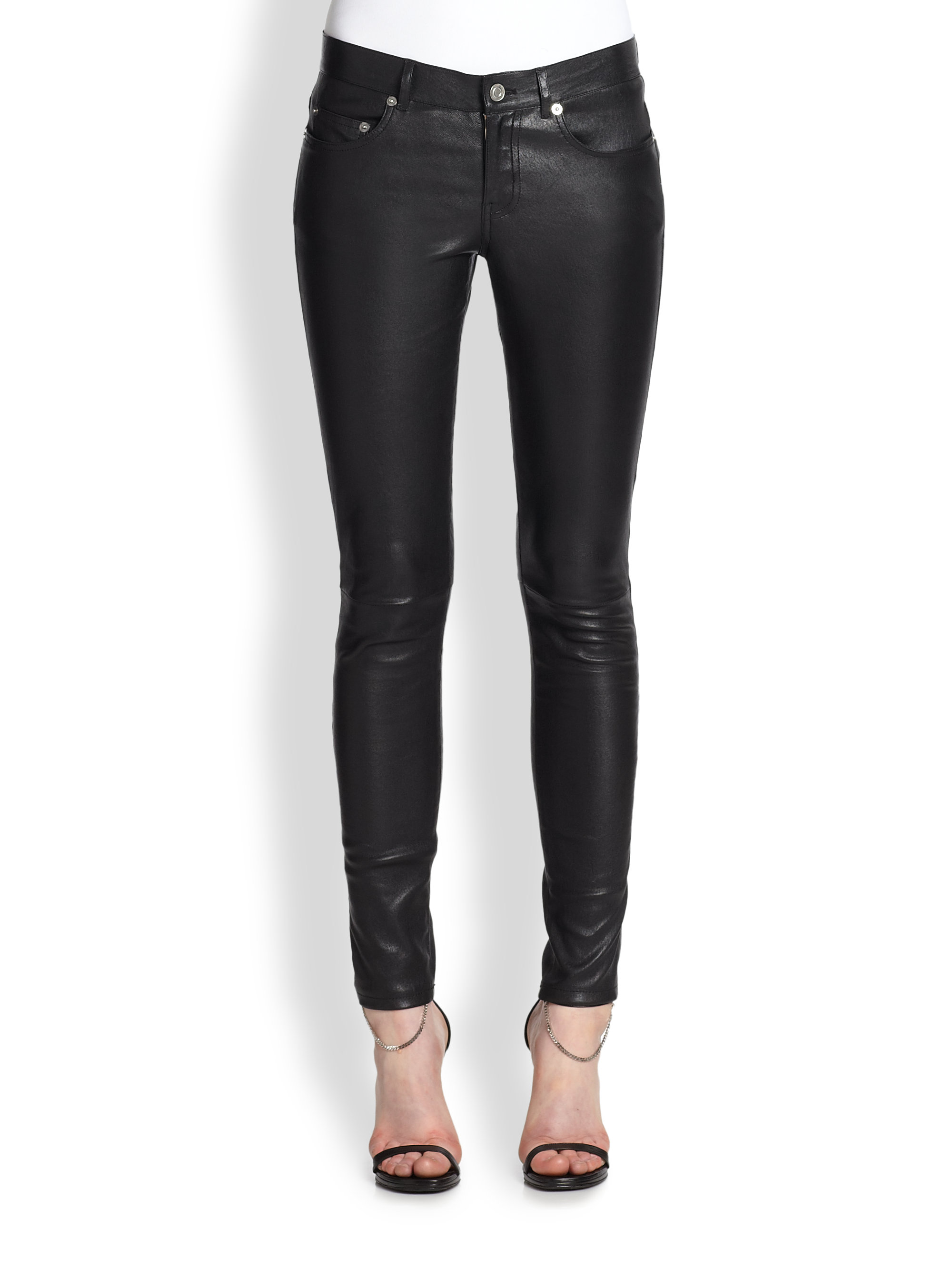 Bluelans Women Sexy Faux Leather Skinny Glossy Pants High Waisted Long Leggings Trousers. Sold by Bluelans. $ $ FAIRCHILD $99 Womens Black Faux Leather Skinny Casual Pants L B+B. Sold by BOBBI + BRICKA. $ $ ALFANI $79 Womens New Black Faux Leather Skinny Casual Pants 4 B+B.