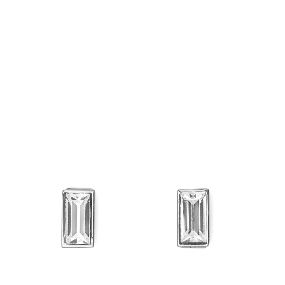 2422acb97 Vince Camuto Rectangle Crystal Stud Earring in Metallic - Lyst