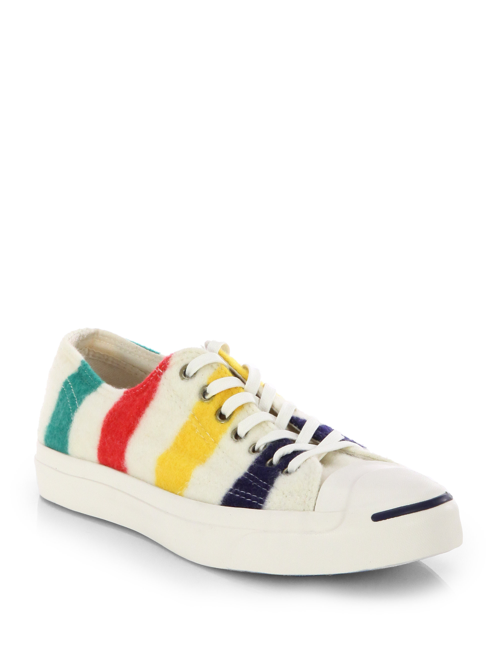 Lyst Converse Striped Wool Sneakers In White For Men