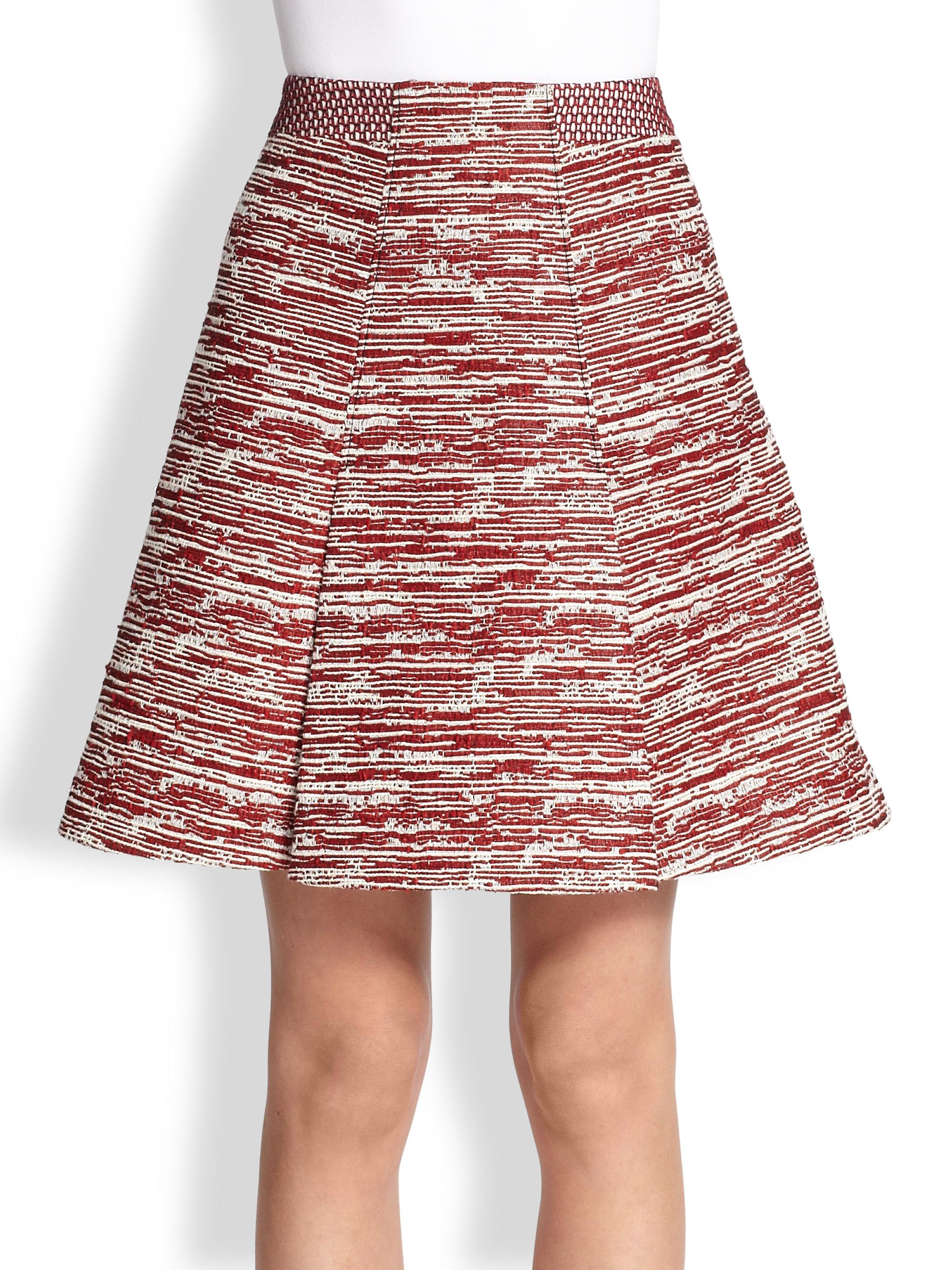 proenza schouler pleated skirt in purple crimson combo