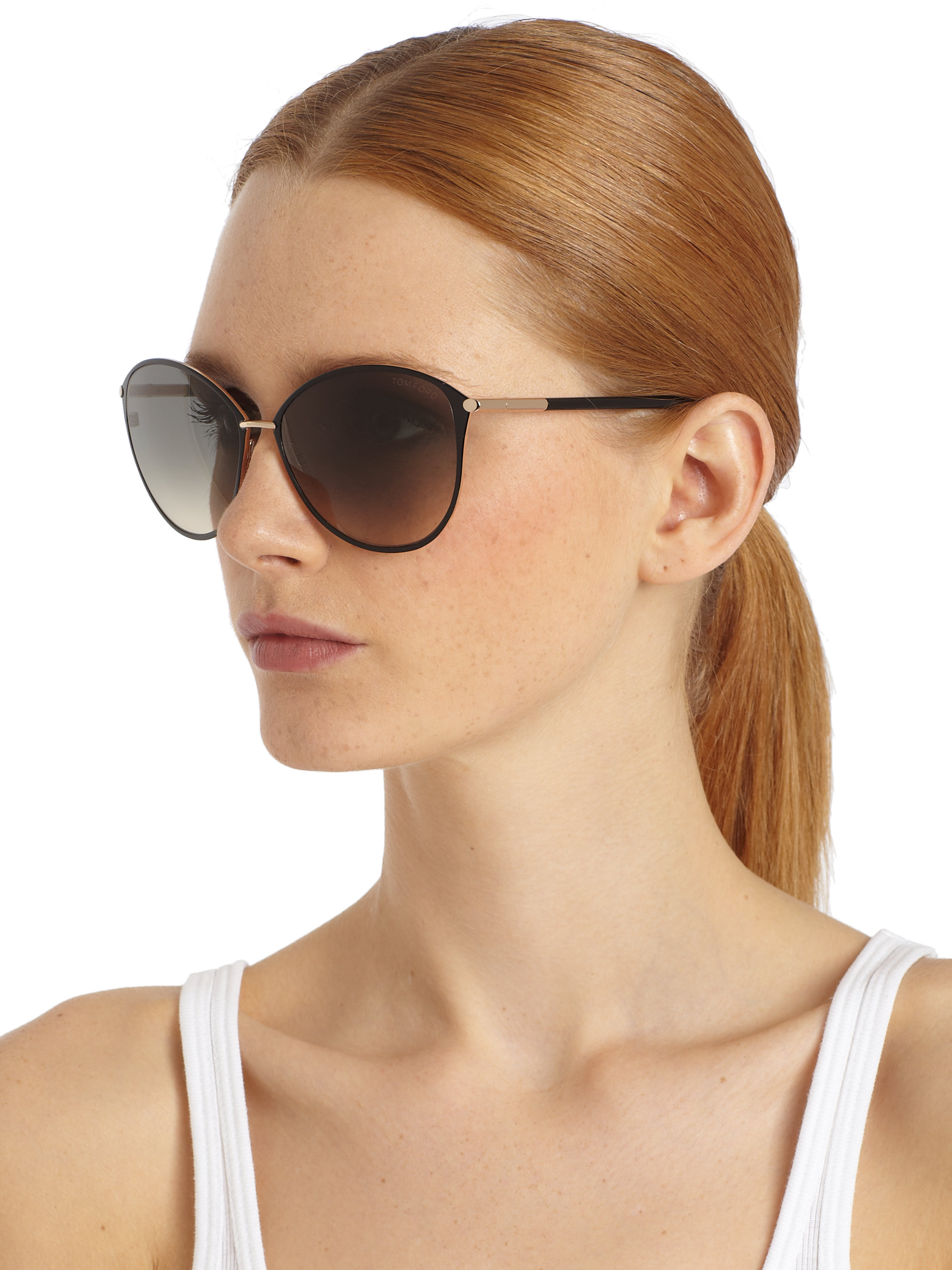 Tom Ford Oversized Sunglasses  tom ford penelope oversized sunglasses in black lyst
