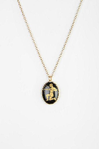 Urban Outfitters Hullabaloo X Urban Renewal Zodiac Necklace in Black (BLACK MULTI) | Lyst