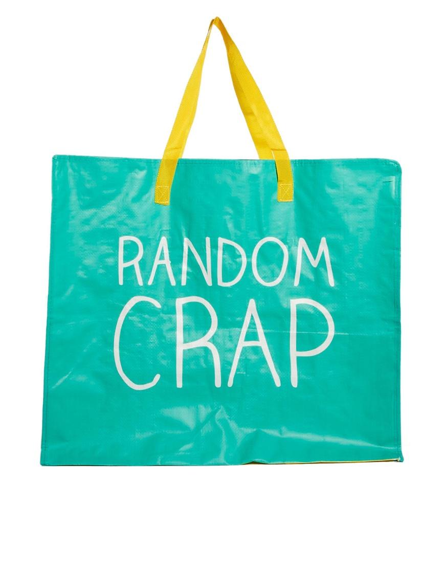 lyst asos happy jackson random crap bag in green rh lyst com