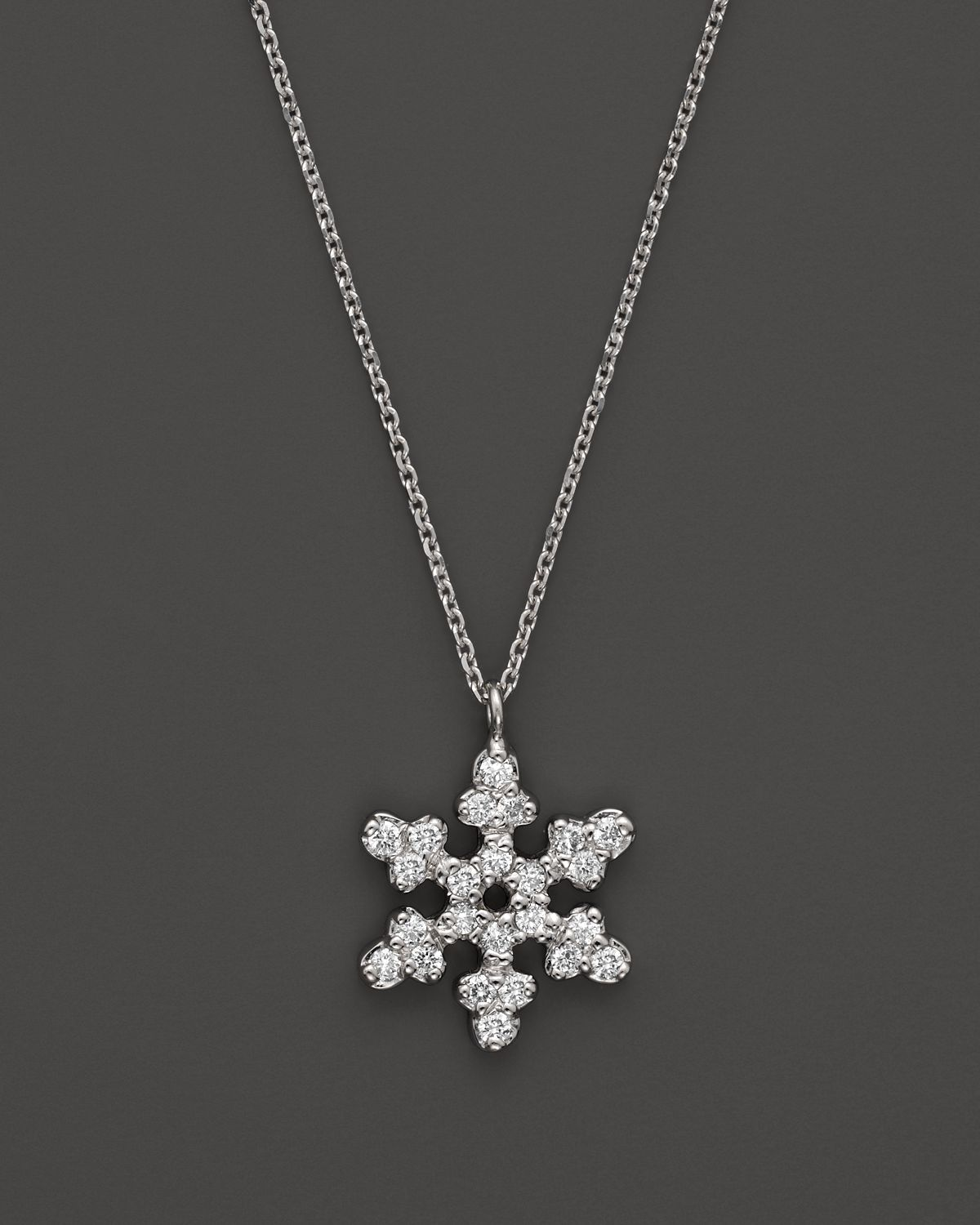 Lyst kc designs diamond snowflake pendant in 14k white gold 14 ct gallery mozeypictures Gallery
