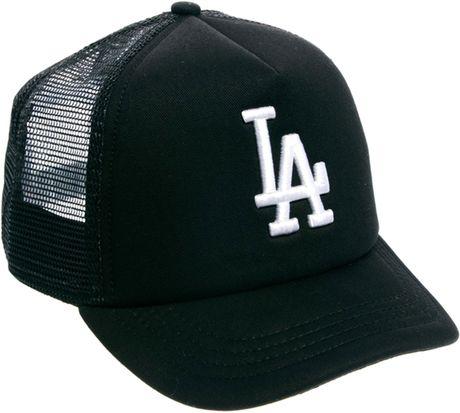 New Era La Dodgers Trucker Snapback Cap In Green