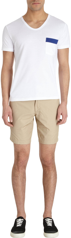 Thom grey Khaki Shorts in Natural for Men | Lyst