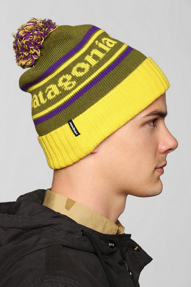 9dba6aa814e Lyst - Urban Outfitters Patagonia Powder Town Beanie in Green for Men