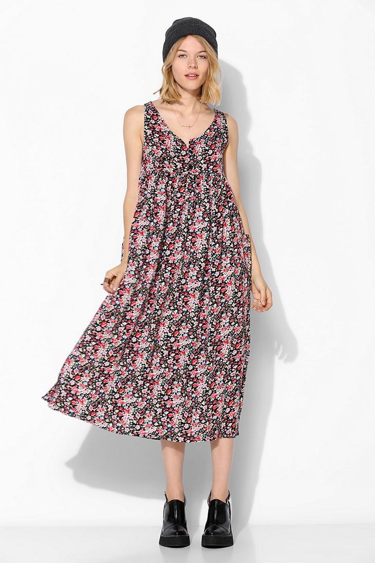 Lyst Urban Outfitters Urban Renewal Babydoll Maxi Dress