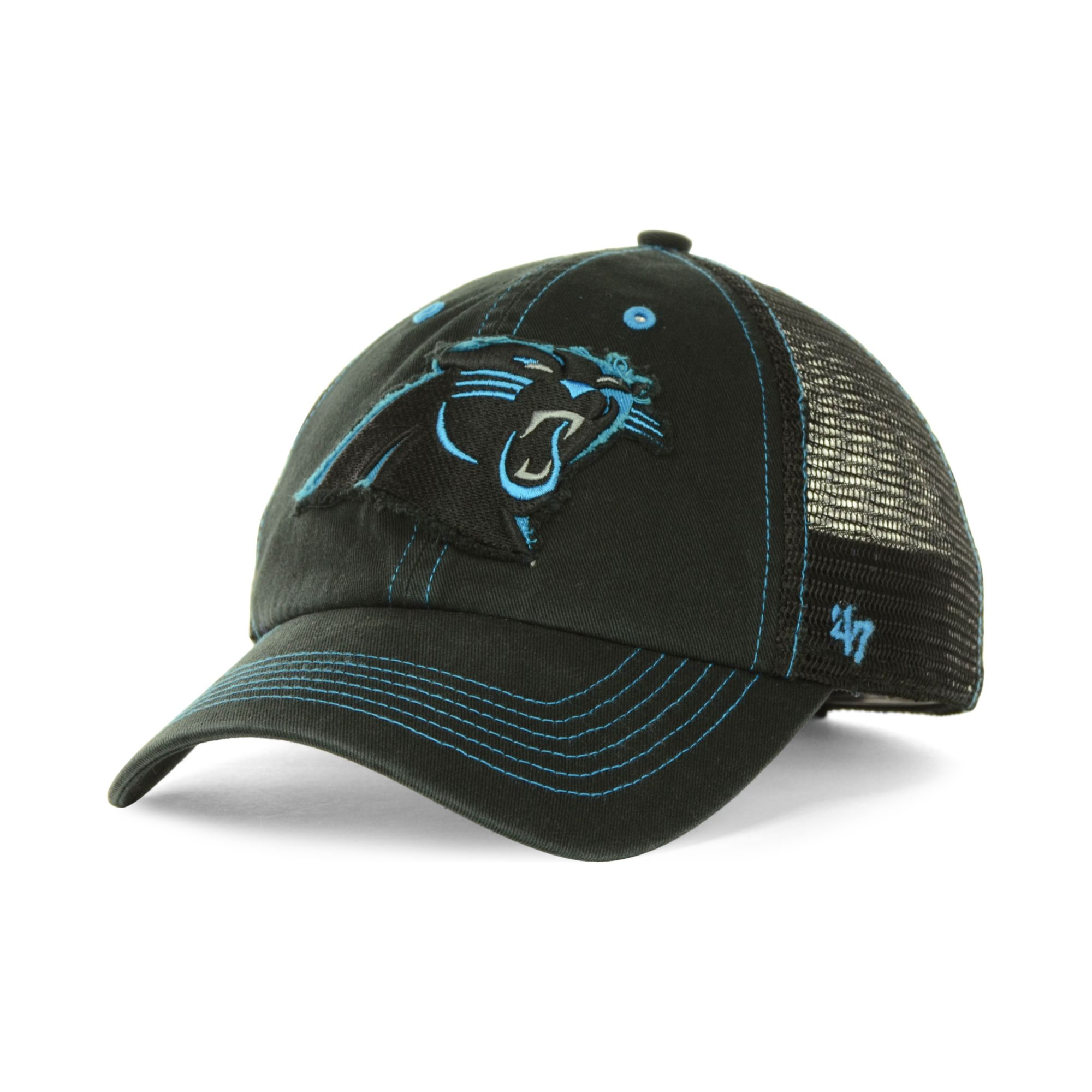 ... trucker hat fbbee cccd1 coupon lyst 47 brand carolina panthers flexbone  hat in black for men 05a44 c2db8 ... 764d64852
